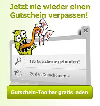 Gutschein Toolbar von couponster