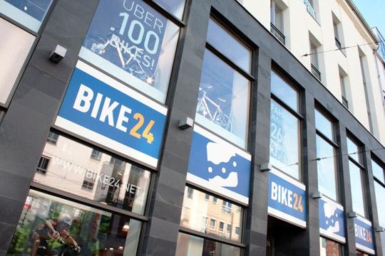 das Bike24 Ladengeschäft in Dresden