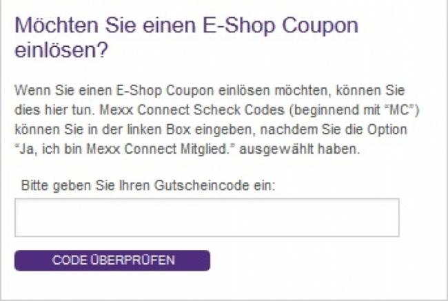 Gutschein-Hilfe Mexx