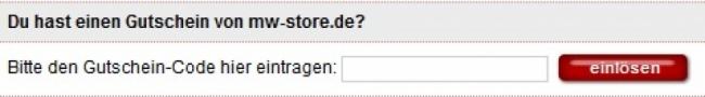 Gutschein-Hilfe mw-store.de