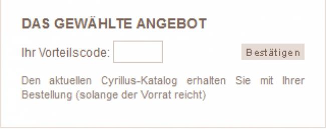 Gutschein-Hilfe Cyrillus