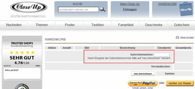 Gutschein-Hilfe Close Up