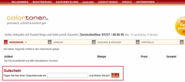 Gutschein-Hilfe colortoner.de