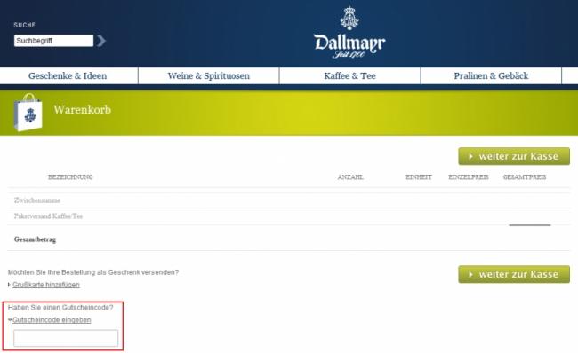 Gutschein-Hilfe Dallmayr