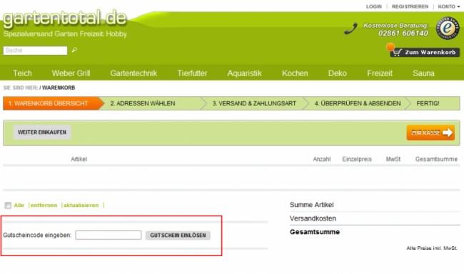 Gutschein-Hilfe Gartentotal.de
