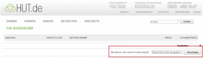 Gutschein-Hilfe hut.de