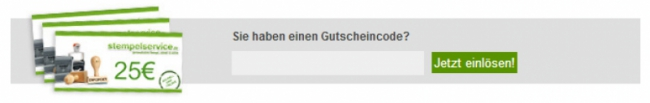Gutschein-Hilfe stempelservice.de