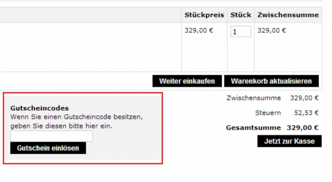 Gutschein-Hilfe Der offizielle Taschen Shop