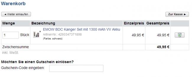 eDampf-Shop Gutschein: geprüfte 60% Rabatt Aktion