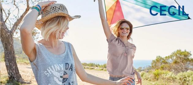 Im Cecil Online-Shop finden Sie immer top-aktuelle Damenmode von T-Shirt, Poloshirts, Tops, Damentunikas und Blusen über Cardigans und Sweatshirts und Hoodies zu Röcken und Kleidern sowie Jeans und Hosen
