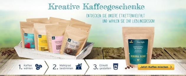 Kreative Kaffeegeschenke von Tchibo Mein Privat Kaffee