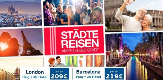 Jetzt Städtereise mit Logitravel Gutschein günstig buchen