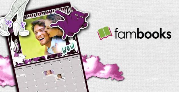 Bei FamBooks gestaltest du kreative Fotobücher, Fotokalender und Karten online