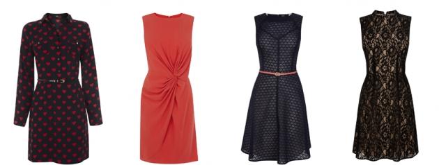 eine Auswahl an Kleidern von Oasis