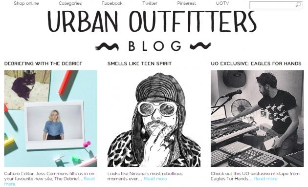 der Urban Outfitters Blog bietet Dir jede Menge aktuelle Infos