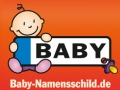 Baby-Namensschild