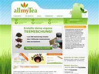 Screenshot von allmyTea
