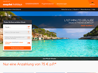 Screenshot von easyJet holidays