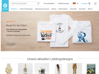 Screenshot von Zazzle