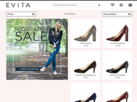 Screenshot von Evita Shoes