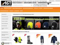Screenshot von AST Berufsbekleidung