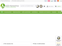 Screenshot von LED-Homeshop