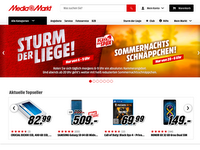Screenshot von Media Markt