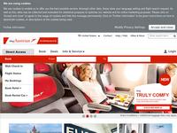 Screenshot von Austrian Airlines