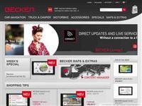Screenshot von Becker Online Shop