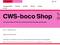 Screenshot von CWS-boco-Shop