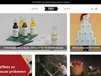 Screenshot von tryfoods.de