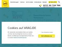 Screenshot von ARAG Versicherungen