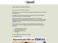 Screenshot von Alpenwelt Versand