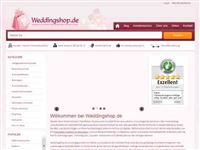 Screenshot von Weddingshop.de