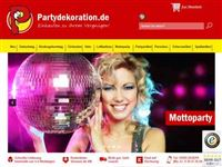 Screenshot von Partydekoration.de