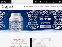 Screenshot von Kusmi Tea