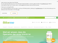 Screenshot von FitForMe