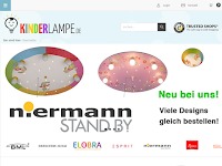 Screenshot von kinderlampe.de